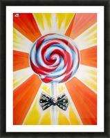 Lollipop Picture Frame print