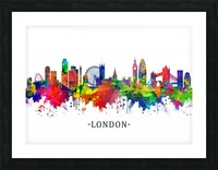 London England Skyline Picture Frame print