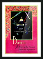 Boston USAEdited Picture Frame print
