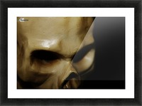 Skeleton Head Picture Frame print
