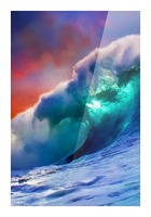 Sunset Wave Picture Frame print