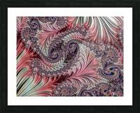 Fractal Art-Silk Brocade Picture Frame print