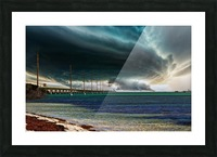 Storm clouds over Bridge Picture Frame print