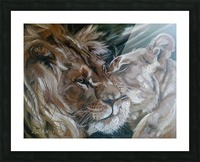 Leos. Tenderness. Picture Frame print