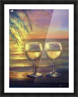 2  White Wines Picture Frame print