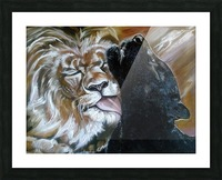 The Lion and the Panther Picture Frame print