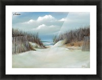 Sand dunes Picture Frame print