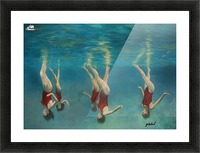 swimmers Picture Frame print