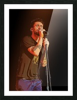 Adam Levine and Maroon 5 performed at The Forum in Inglewood Calif    Picture Frame print
