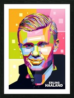Erling haaland Picture Frame print