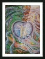Amulet for love Picture Frame print