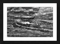 chama freight train B&W Picture Frame print