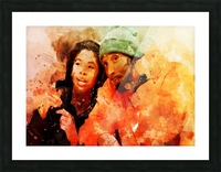 kobe and gianna bryant Picture Frame print