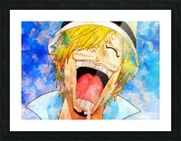 Sanji Picture Frame print
