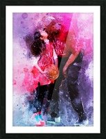 Gianna and kobe bryant Picture Frame print