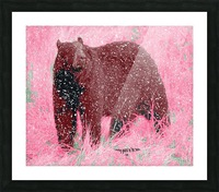 Standing Guard in Snow Picture Frame print