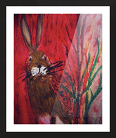 Red Rabbit Picture Frame print