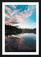 Sunset Reflection Picture Frame print