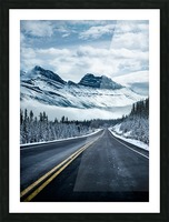 Icy Roads Picture Frame print