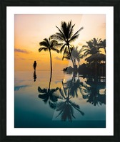 Relaxation Sunset Picture Frame print