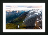 Mountains and Valleys Picture Frame print