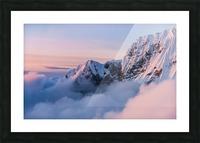 Snowy Peaks Picture Frame print