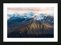 Alaskan Mountains Picture Frame print