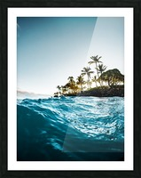 Blue Morning Picture Frame print