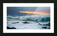 Mountains and Waves Picture Frame print