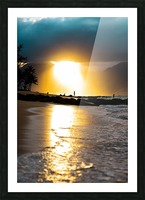 Tropical Sunset Picture Frame print