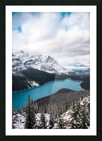 Wintry Peyto Lake Picture Frame print