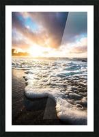 Seafoam Sunrise Picture Frame print