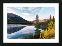 Mountains and Water Picture Frame print