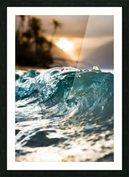 Glassy Wave Picture Frame print