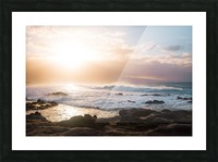 Colorful Waves Picture Frame print