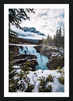 Wintry Waterfall Picture Frame print