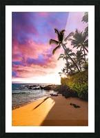 Secret Beach Picture Frame print