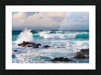 Blue Crash Picture Frame print