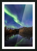 Northern Lights Reflection Picture Frame print