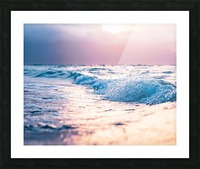 Pastel Waves Picture Frame print