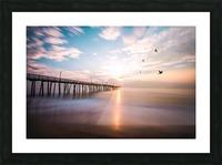 VA Beach Sunrise Picture Frame print