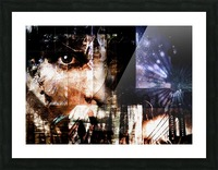 Face Abstract Picture Frame print