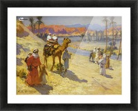 A walk through the dessert Picture Frame print