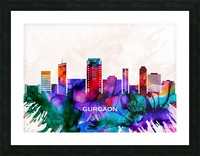 Gurgaon Skyline Picture Frame print