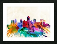 Harare Skyline Picture Frame print