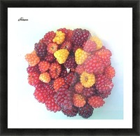 Wild Berries Picture Frame print