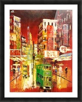 Wanchai Night Picture Frame print