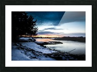 The Nith - Post Sunset Picture Frame print