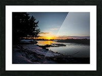 The Nith - Pre Sunset Picture Frame print