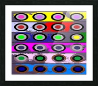 Circle Crazy by dePace Picture Frame print